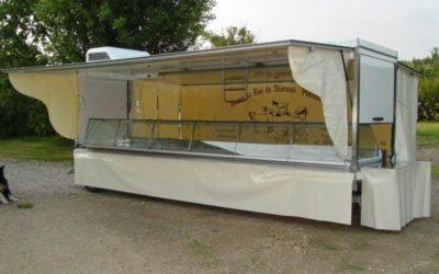 Remorque avec toit et auvents 2 essieux, 5 mètres