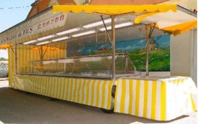 Remorque réfrigérée avec toit et auvents 3 essieux, 10 mètres