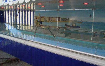 Remorque poisson avec toit et auvents 2 essieux, 6 mètres